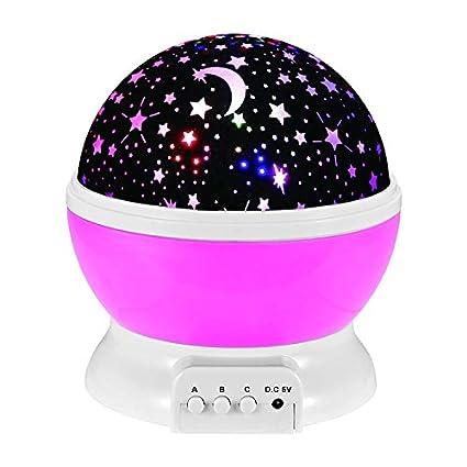 Amazon.com: Bebé Luz Nocturna Moon Star – Proyector Rotación ...