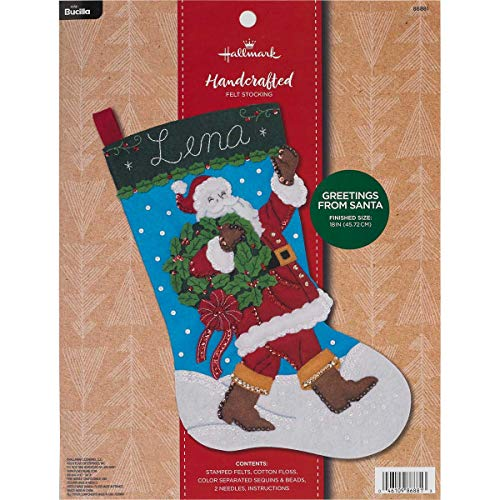 Bucilla 86881 Hallmark Felt Stocking Kit, 18