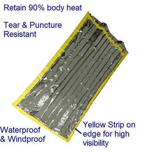 1c609634421d Leberna Emergency Survival Foil Mylar Thermal Waterproof Sleeping Bag 2  Pack | 3 FT x 7 FT Bivy 36
