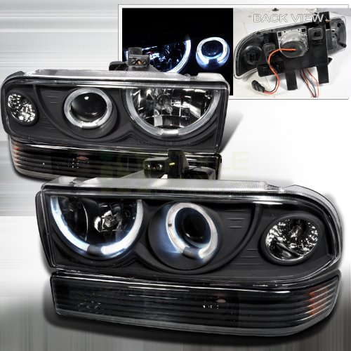 Spec-D Tuning 2LBLHP-S1098JM-RS Black Projector Headlight (Combo with Bumper Light)