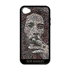 iPhone 4 Case, [bob marley] iPhone 4,4s Case Custom Durable Case Cover for iPhone4s TPU case (Laser Technology)