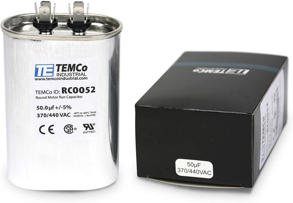 fits Ducane # R100600-01 ClimaTek Oval Capacitor 5 uf MFD 370//440 Volt VAC