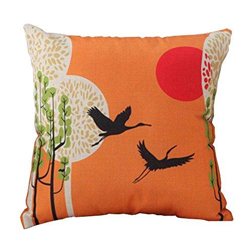 Oriental Japanese Asian Art Design Home Decorative Throw Pillow Case Cushion Cover, (Asian Design)