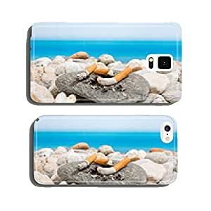 Cigarette butts on the beach cell phone cover case iPhone6 Plus