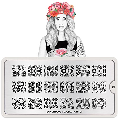 MoYou-London Nail Art Flower Power Plate Collection