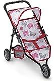 Litti Pritti Jogger Hot Pink Doll Stroller, Black Foam Handles and Hot Pink Frame