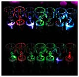 24 PC Flash Light Up Cups Flashing Drinking Shots LED Bar Night Club Party Drink Glasses (Wine Shot)