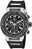 GV2 by Gevril Men's 8203 Novara Analog Display Swiss Quartz Black Watch