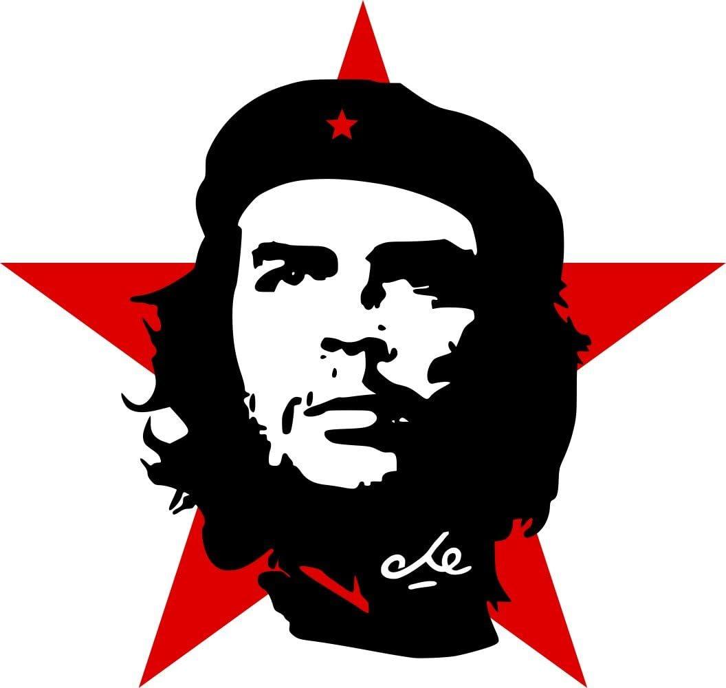 Etaia 10x10 Cm Auto Aufkleber Che Guevara Roter Stern Revolution Kuba Cuba Sticker Motorrad Bike Biker Auto