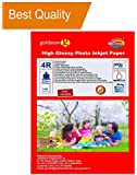 Gocolor Inkjet High Glossy Photo Paper 210 GSM 4R (4x6 Inch)/100 Sheets