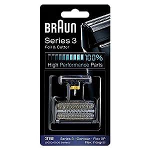 Braun 5000/6000FC- XP 31B Flex Integral Foil/Cutterblock Replacement Pack, Black