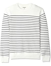 41e9946f68c Amazon Brand - Goodthreads Men s Soft Cotton Striped Crewneck Sweater