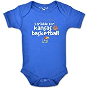 NCAA Kansas Jayhawks Infant Short sleeve Bodysuit, 6 Months, Royal