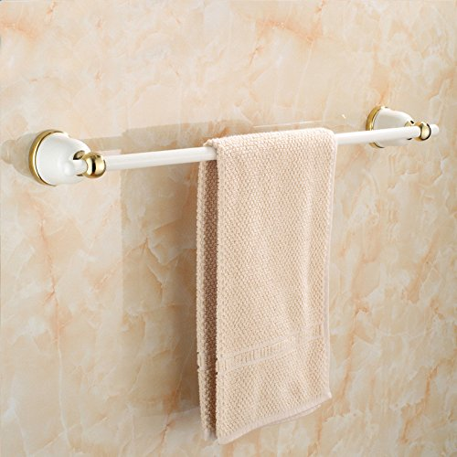 Yomiokla Bathroom Accessories - Kitchen, Toilet, Balcony and Bathroom Metal Towel Ring Stainless Steel Gold Plated Paint Single Lever Country Air