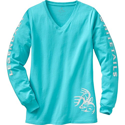 Legendary Whitetails Ladies Non-Typical Long Sleeve Tee Glacier Large