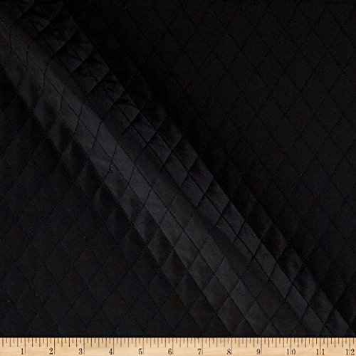 Quilted Interlining Black Fabric By The Yard (Quilted Lining)