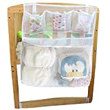 Changing Table That Fits Over Crib Sleeping Lamb Breathable Mesh Nursery Diaper Organizer Storage Bag Bedside Caddy for Baby Crib