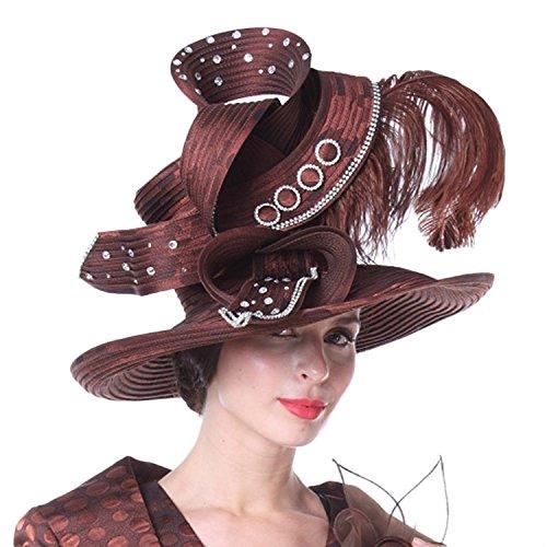 Kueeni Women Church Hats Couture Hats Mother of Bride Wedding Hats by Kueeni