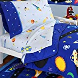 Olive Kids Out of This World Cotton Printed Sheet Set, Toddler