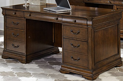 - Liberty Furniture 901-HOJ-JED Chateau Valley Home Office Jr Executive Desk, 66