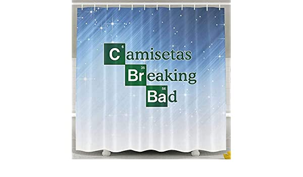 Amazon.com: D.Mota Camisetas Breaking Bad Shower Curtain 60x72inch: Home & Kitchen