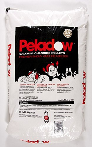 Peladow Ice Melt Calcium Chloride Pallet (50 x 50lbs) by Emedco