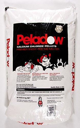 Peladow Ice Melt Calcium Chloride 50 lb Bag by Emedco