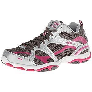 RYKA Women's Enhance 2 Synthetic Training Shoe,Metallic Steel Grey/Chrome Silver/Zuma Pink,6.5 M US