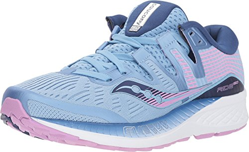 Saucony Ride ISO Wide Women 9 Blue | Navy | Purple
