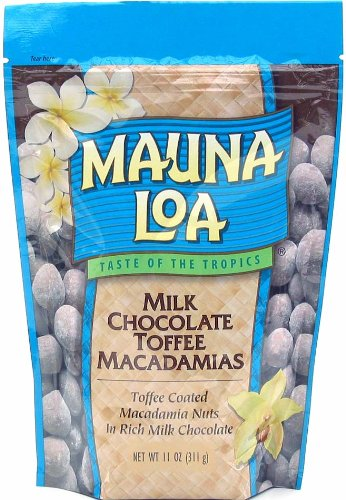 Macadamia Nut Toffee (Mauna Loa Milk Chocolate with Toffee and Macadamias, 11-Ounce Bag)