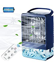 Mini Air Conditioner Fan, Evaporative Air Cooler with 4000mAh Battery & Remote,Personal Mini Air Conditioner