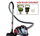 Ovente Bagless Canister Vacuum with Hepa Filter and Sofa/Pet...