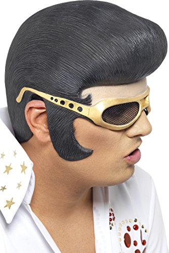 Elvis Mask (Black Elvis Headpiece)