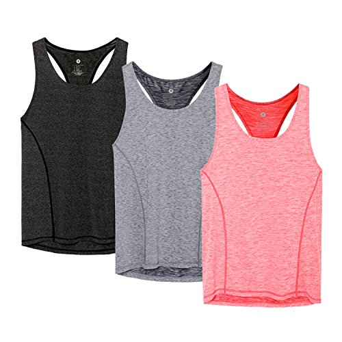 - MMIW COLLECTION Workout Racerback Tank Tops for Women Sports Running Yoga Tops Sleeveless Shirts(B/G/C-M)