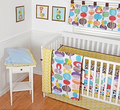 Sumersault 9 Piece Nursery in a Bag Crib Bedding Set with Bonus Bumper, Textured Pebbles