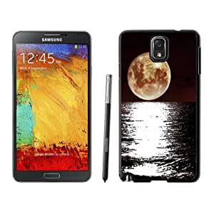 NEW DIY Unique Designed Samsung Galaxy Note 3 Phone Case For Bright Super Moon Over The Sea Phone Case Cover