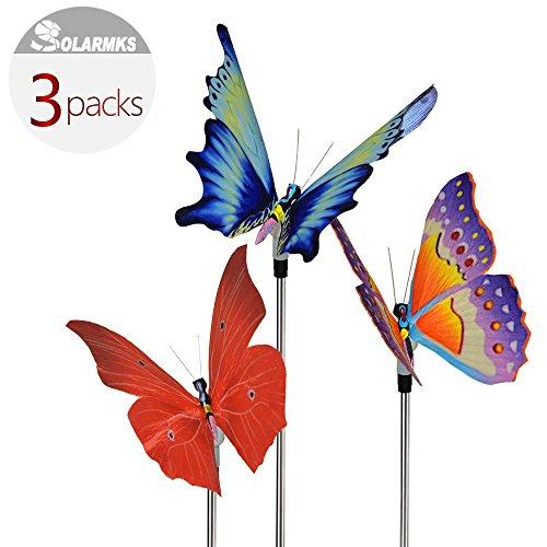 Solarmks Solar Stake Lights Color Changing Fiber Optic Butterfly Led Landscape Lighting (Fiber Butterfly Light String)