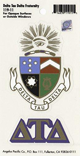 Delta Tau Delta Fraternity Crest Sticker (Crest Sticker)