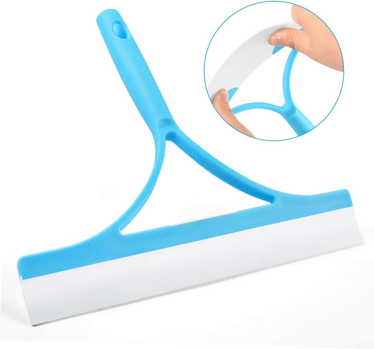 Yuede - Limpiacristales (mango de plástico, con labio de goma profesional, cabezal plegable, giratorio), color blanco: Amazon.es: Hogar