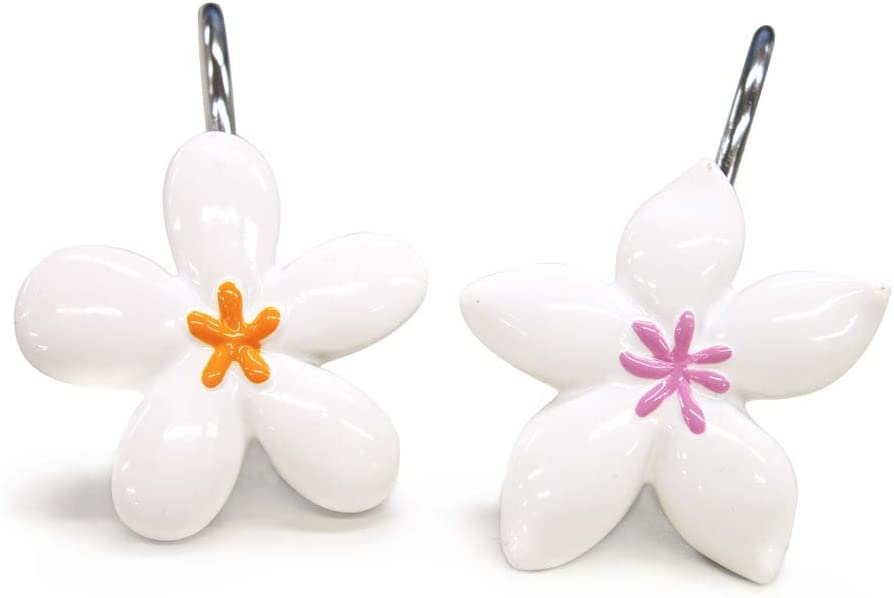 Allure Home Creations Bloomers Resin Shower Curtain Hooks