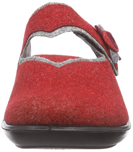 304 Femme Rot doublées Home Grau 408 Multicolore ROMIKA Pantoufles Non Ibiza naYxS