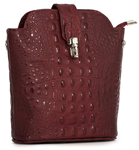 Real Small Red Mini Shop Deep Body Handbag Shoulder Big Bag Leather in Croc Various Designs Cross wEZIt