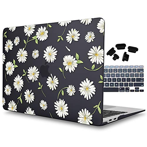 Price comparison product image Mektron for MacBook Air 13 Inch Case, Plastic Hard Case & Keyboard Cover Compatible Mac Air 13.3 (Models: A1369 & A1466,  Older Version 2010-2017 Release),  Feverfew
