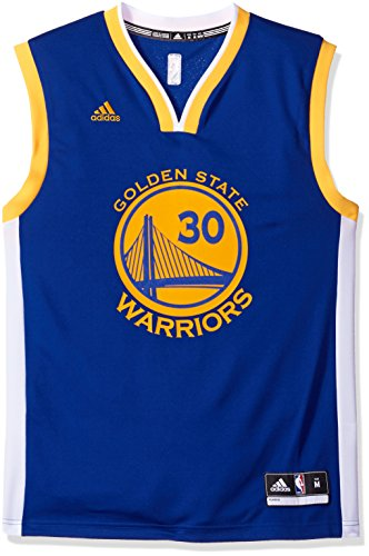 adidas NBA Golden State Warriors Stephen Curry Carretera réplica de la Camiseta Azul, pequeño: Amazon.es: Deportes y aire libre