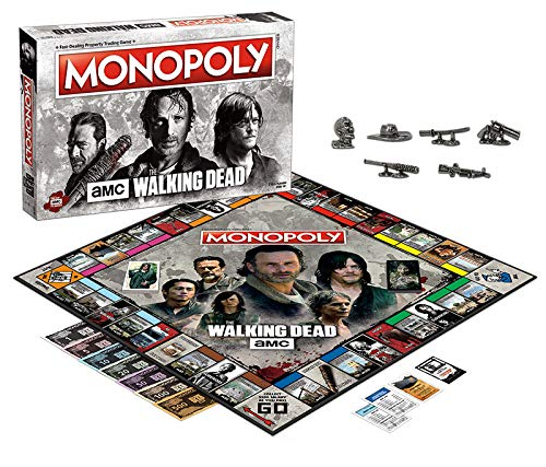 Amazon.com: Juego de mesa Monopoly de The Walking Dead AMC ...