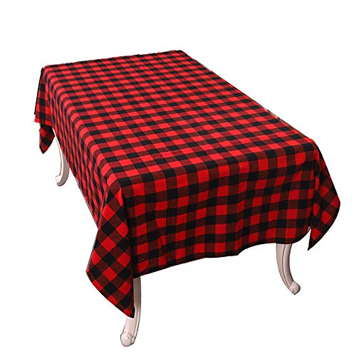 AckfulPlaid Pattern Placemat Dining Table Tablecloth Non-Slip Christmas Home Decor -