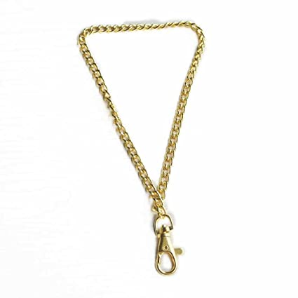 3 Sets Chain Link Wrist Strap for Purse Clutch Pouch KeyRing Wristlet  Swivel L39mm Gold