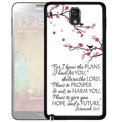 Jeremiah 29:11 Bible Quote with Pink Cherry Blossom Branch (Samsung