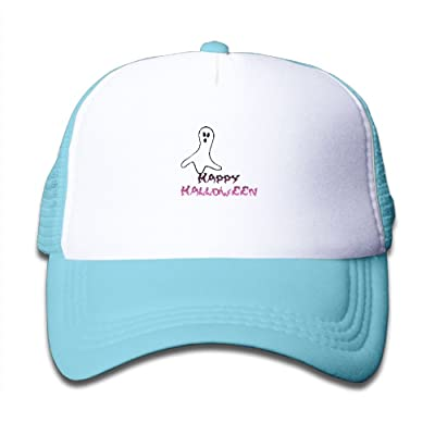 NO4LRM Kid's Boys Girls Halloween Dance Ghost Youth Mesh Baseball Cap Summer Adjustable Trucker Hat