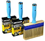 3 Piece (4,5,6inch) Heavy Duty Professional Stain Brush, Paint Brush,Paint Brushes, Double Thick 1.2 inch,Fence Brush,Paint Brush for Walls,Painters Paint Brush,Tool Set,Home Repair Tools,Tool kit